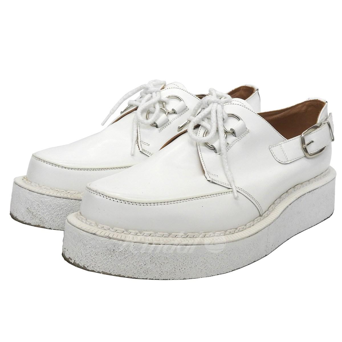 vente pas cher design élégant dernière vente COMME des GARCONS HOMME PLUS X GEORGE COX rubber sole shoes white size:  UK10 (コムデギャルソンオムプリュス X George coxswain)
