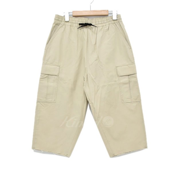【中古】DESCENDANT BULY CUT OFF TROUSERS パンツ ホワイト サイズ:1(S) 【010319】(ディセンダント)