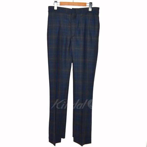 【中古】TOGA PULLA 18AW Wool check vent pants チェックパンツ ネイビー サイズ:36 【送料無料】 【010319】(トーガ プルラ)