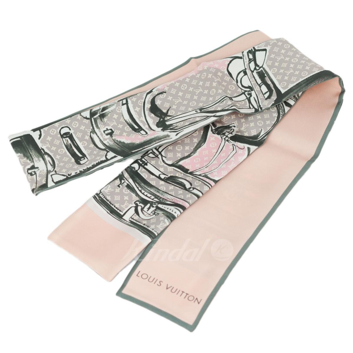 【中古】LOUIS VUITTON バンドー シルク スカーフ ピンク 【送料無料】 【280219】(ルイヴィトン)