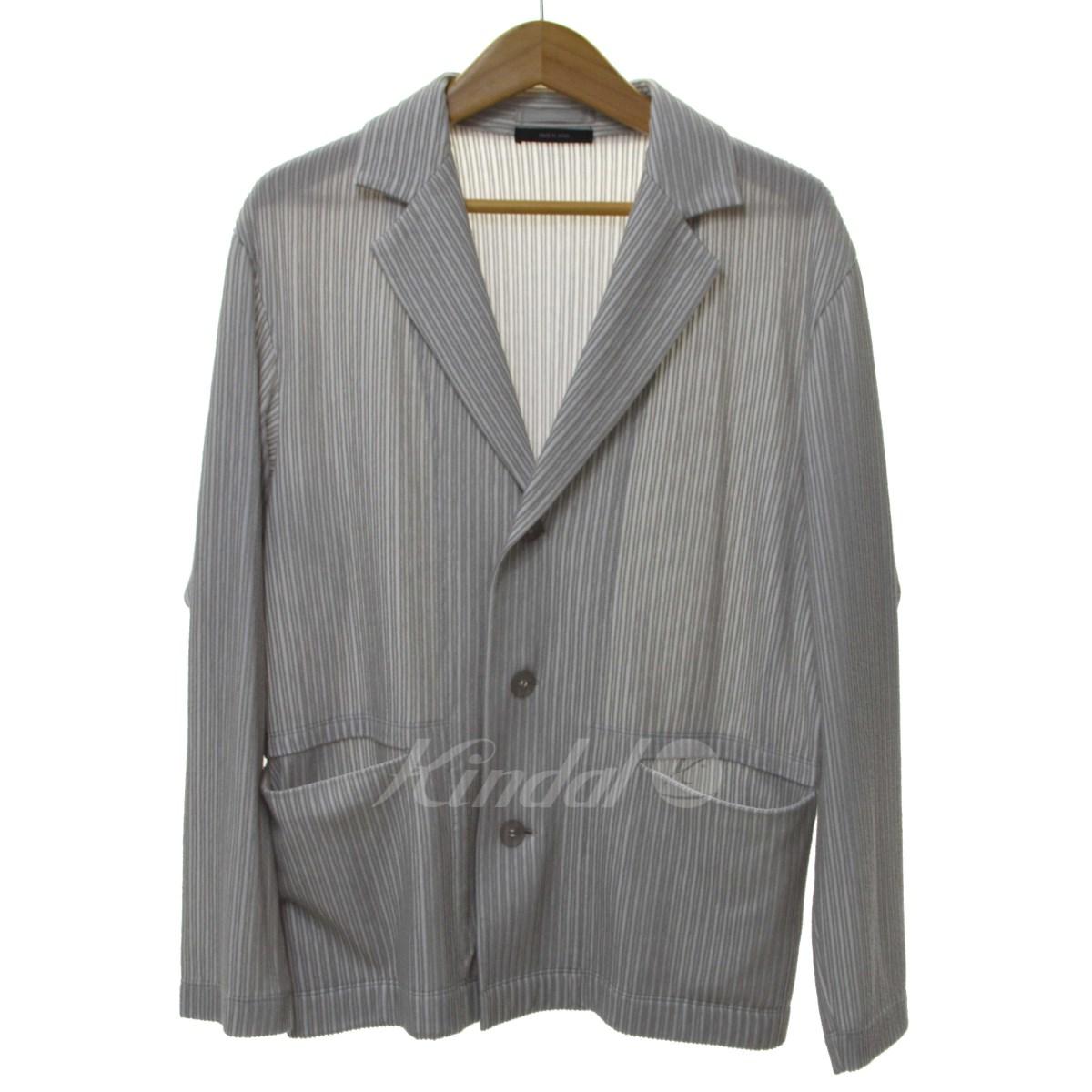 【中古】ISSEY MIYAKE MEN 18SS プリーツジャケット グレー サイズ:1 【送料無料】 【010319】(イッセイミヤケ)