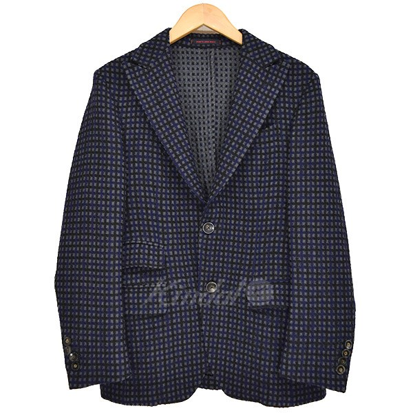 【中古】THE GIGI ジャカード2Bジャケット ネイビー×ブラック×グレー サイズ:44 【送料無料】 【010319】(ザジジ)