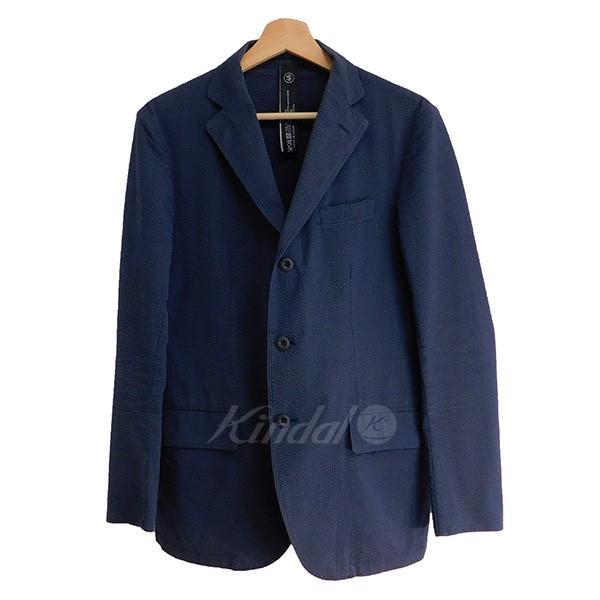 【中古】TEATORA Device Jacket TC シアサッカー ネイビー サイズ:46 【送料無料】 【010319】(テアトラ)