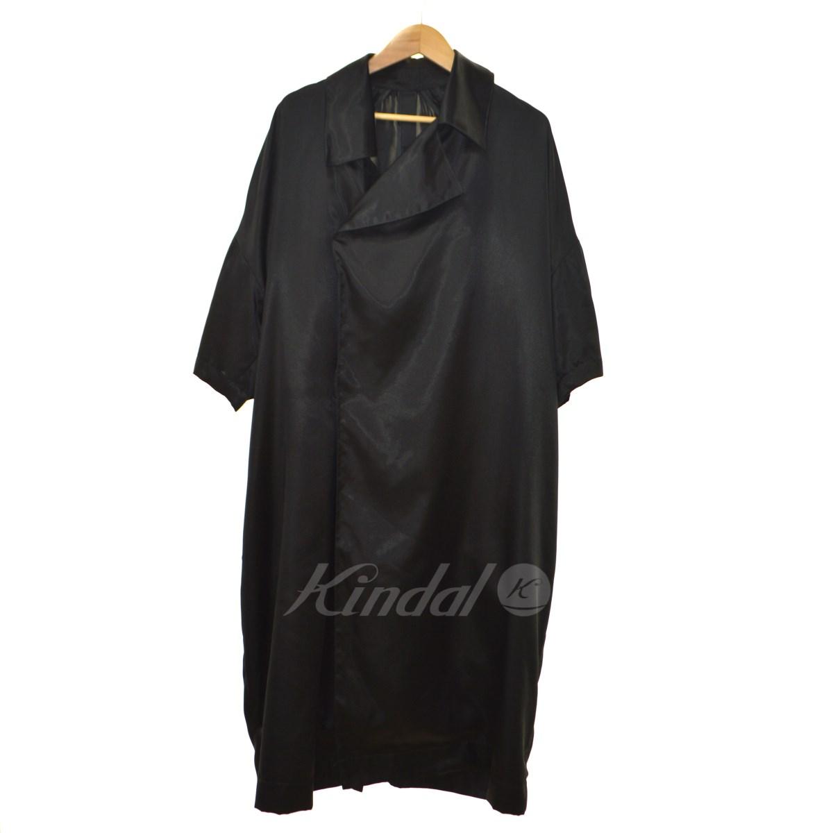 中古 SHINYA KOZUKA 18SS Short Sleeve Trench 卸売り コート ブラック !超美品再入荷品質至上! 送料無料 サイズ:M シンヤコズカ 020319