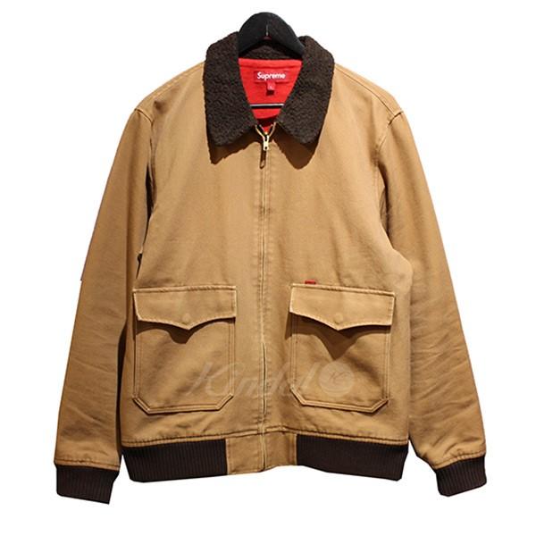 【中古】SUPREME 2010AW Bomber Jacket ボンバージャケット ボア切替ジャケット ブラウン サイズ:L 【送料無料】 【030319】(シュプリーム)