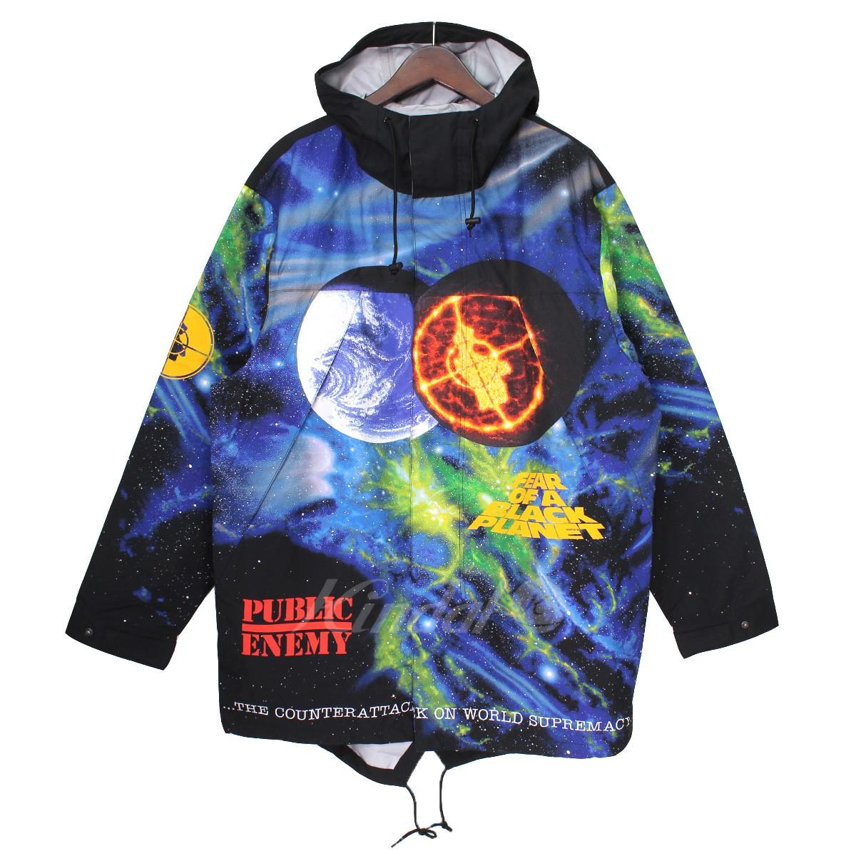 【中古】Supreme × UNDER COVER 18SS Public Enemy Taped Seam Parka スペース総柄ジャケット マルチ サイズ:L 【送料無料】 【030319】(シュプリーム アンダーカバー)