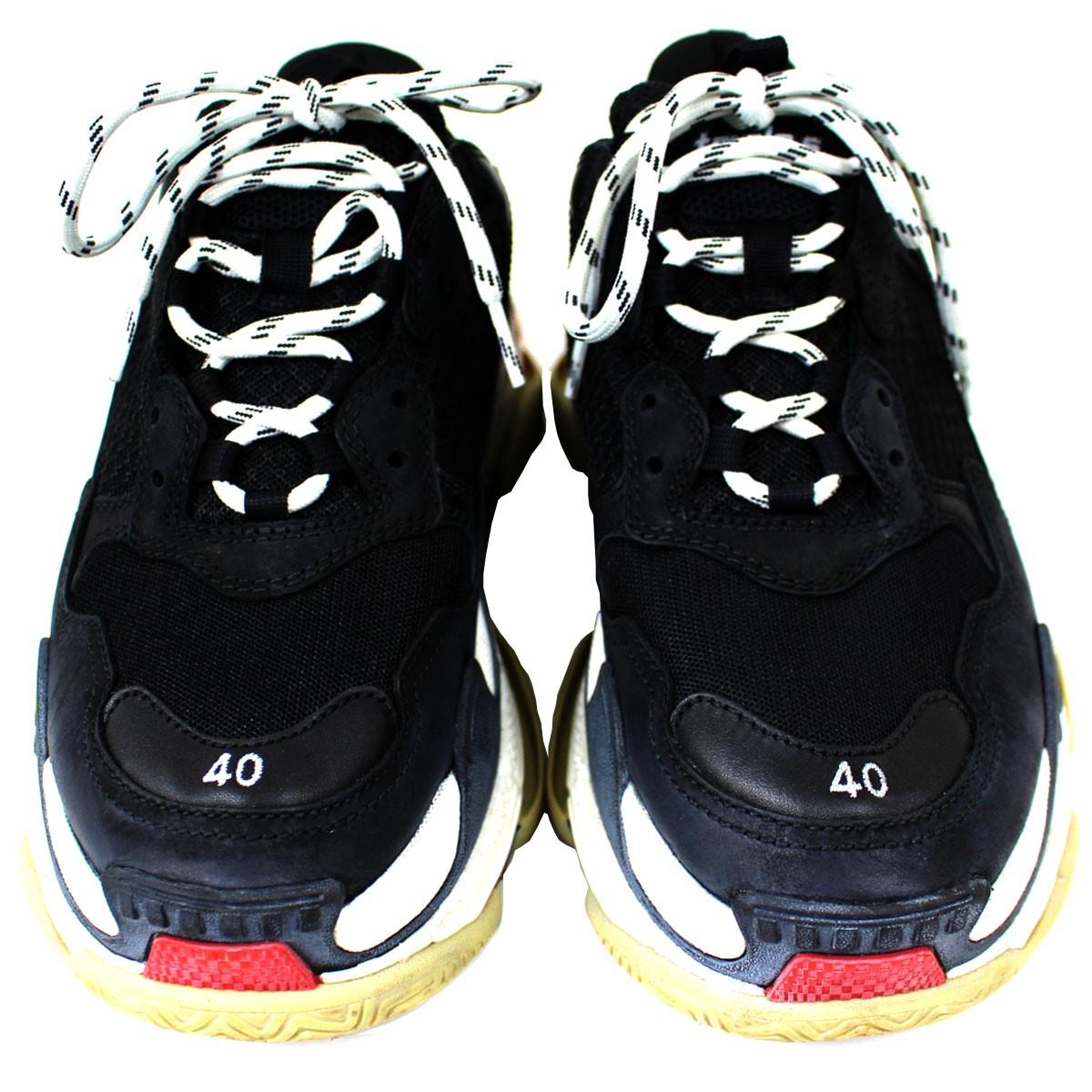 Balenciaga Triple S Sneakers Black Red in