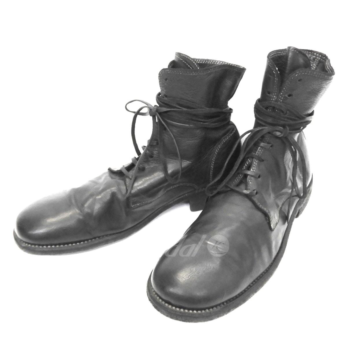 【中古】GUIDI レザーレースアップブーツ ブラック サイズ:42 【送料無料】 【060319】(グイディ), きのくにや商店 1a2309e0