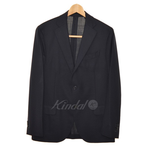 【中古】LARDINI PT32801AQ ノッチドラペルテーラードジャケット ネイビー サイズ:48 【送料無料】 【060319】(ラルディーニ)