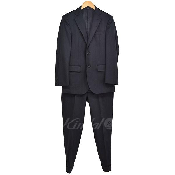 【中古】NEWYORKER AGING CLOTH 2Bスーツセットアップ 2017SS グレー サイズ:A4(S) 【送料無料】 【050319】(ニューヨーカー)