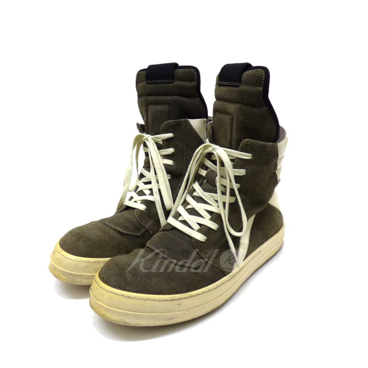 bas prix e3d82 192da Rick Owens geo-basket suede cloth higher frequency elimination sneakers  gray size: 42