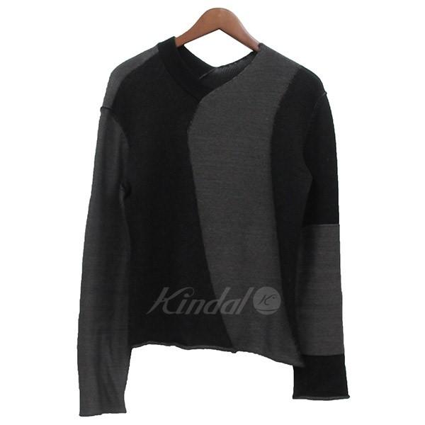 【5月6日 お値段見直しました】【中古】Kiko Kostadinov2018AW 4WAY ニットセーター ブラック×チャコールグレー サイズ:S