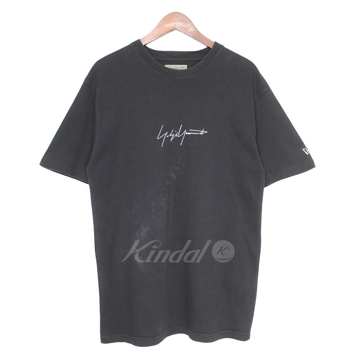 【中古】YOHJI YAMAMOTO×NEW ERA 18SS シグネチャーロゴクルーネックTシャツ ブラック サイズ:4 【送料無料】 【080319】(ヨウジヤマモト ニューエラ)