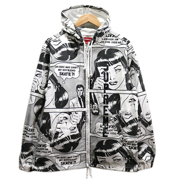 45435cb7981f Supreme X THRASHER 17SS Boyfriend Hooded Zip Up Jacket jacket white size  S  (シュプリームスラッシャー)