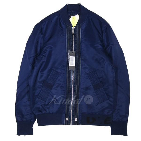 【中古】DIESEL MA-1ジャケット ネイビー サイズ:S 【送料無料】 【090319】(ディーゼル)