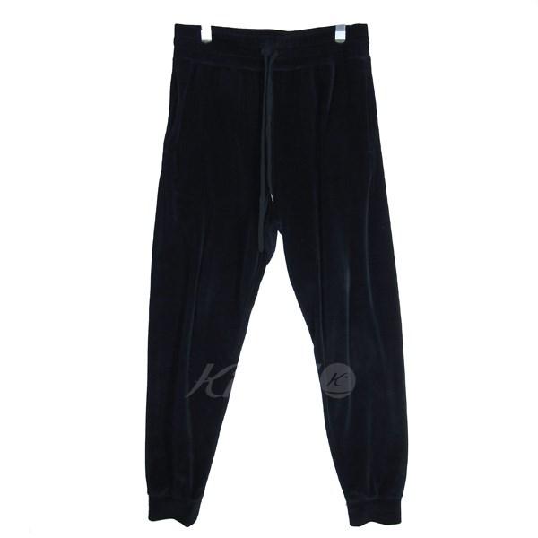【中古】KOZABURO 2018S/S Velour Sweat Pants/ベロアスウェットパンツ ネイビー サイズ:0 【送料無料】 【110319】(コウザブロウ)