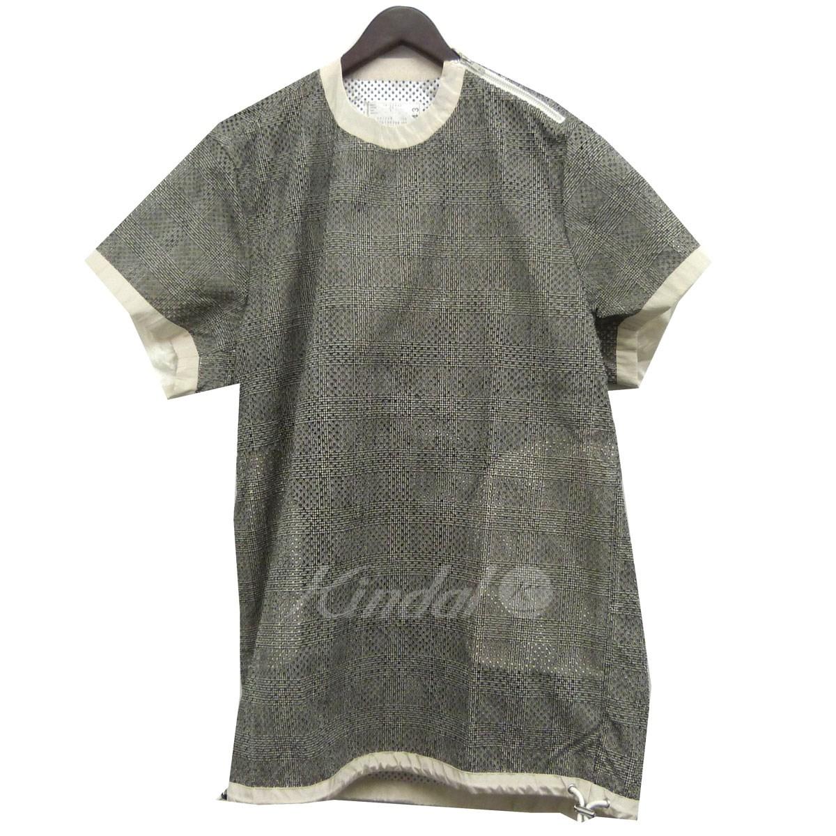 【中古】sacai グレンチェックプルオーバーシャツ グレー×オフホワイト サイズ:2 【送料無料】 【110319】(サカイ)