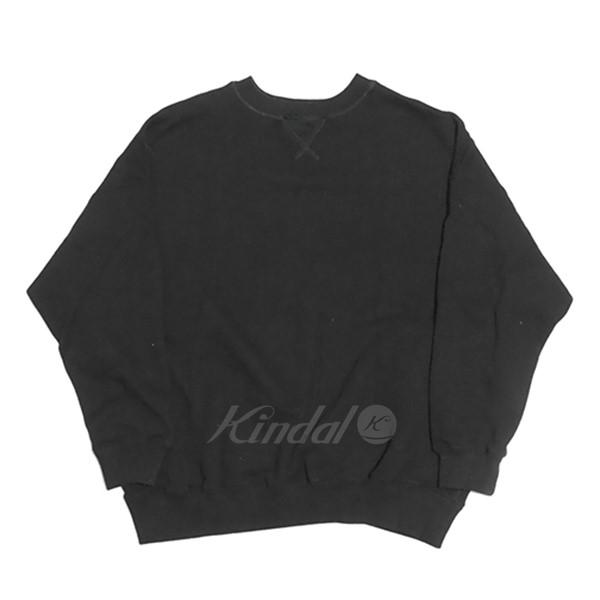 【中古】nest Robe 2018AW 吊り裏毛ビッグ スウェット new fabric ブラック サイズ:Free 【送料無料】 【110319】(ネストローブ)