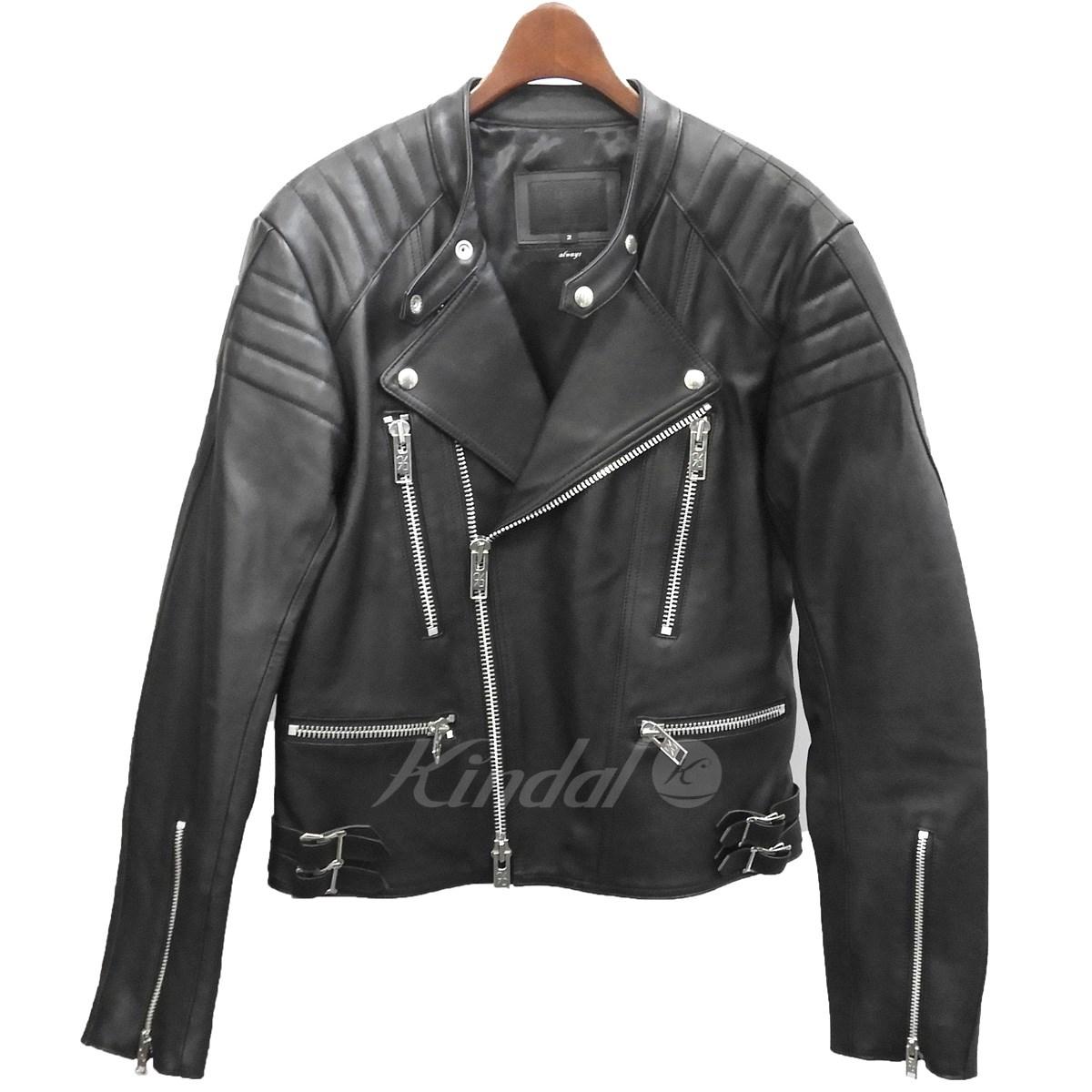 【中古】99%is ダブルライダースジャケット ブラック サイズ:2 【送料無料】 【120319】(ナインティーナインパーセントイズ)