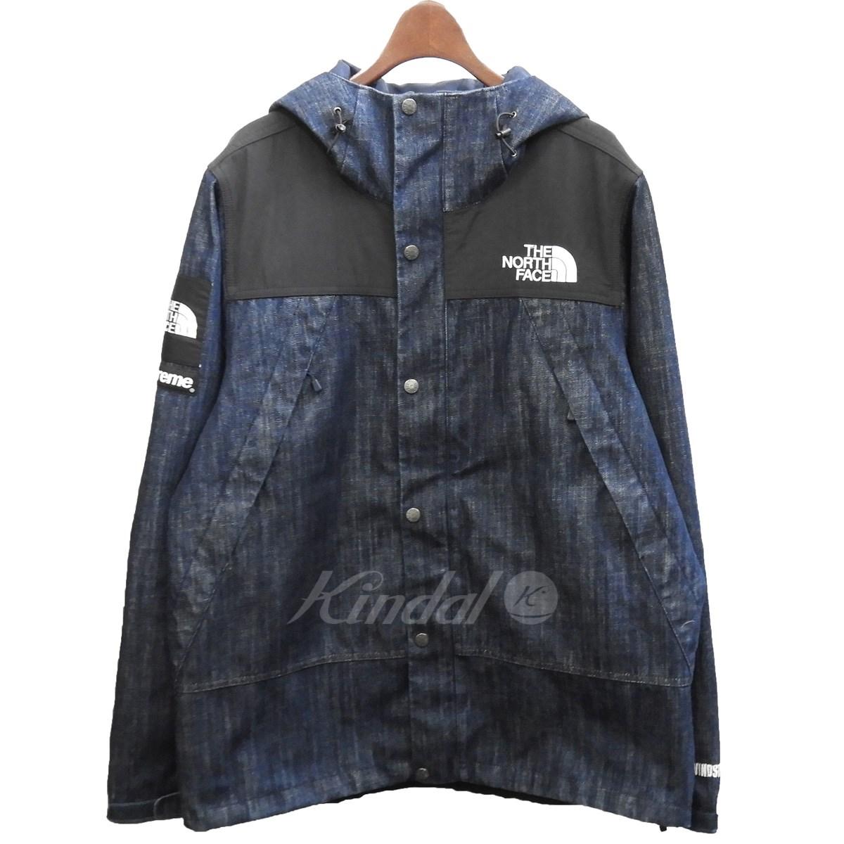 【中古】Supreme×THE NORTH FACE 15SS「Denim Dot Shot Jacket」デニムドットショットジャケット インディゴ サイズ:L 【送料無料】 【120319】(シュプリーム ノースフェイス)