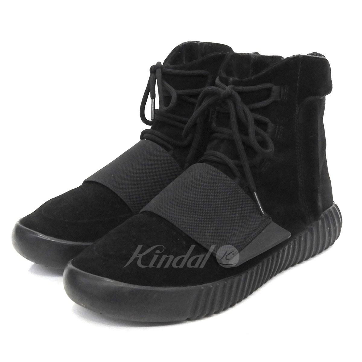 【中古】adidas originals by Kanye West 「YEEZY BOOST 750」スニーカー トリプルブラック サイズ:28cm 【送料無料】 【120319】(アディダスオリジナルスバイカニエウエスト)
