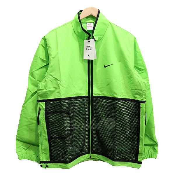 【中古】SUPREME×NIKE 17AW Trail Running Jacket  トレイルランニングジャケット グリーン サイズ:L 【送料無料】 【110319】(シュプリーム ナイキ)