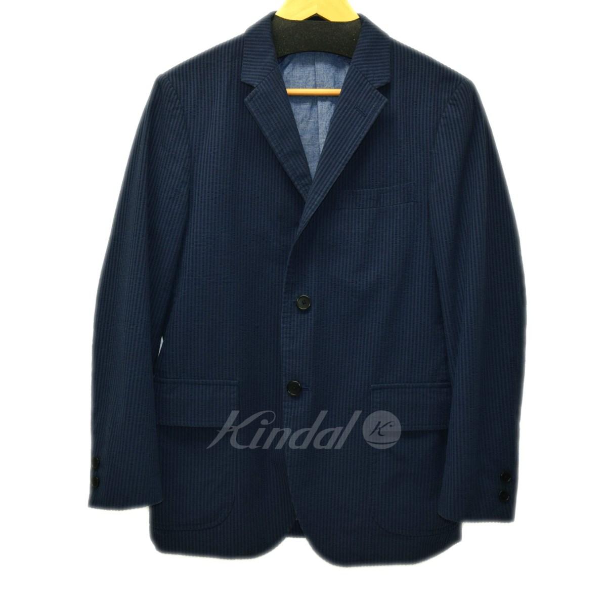 【中古】BLUE BLUE x J PRESS シアサッカージャケット ネイビー サイズ:1(S) 【送料無料】 【110319】(ブルーブルー)