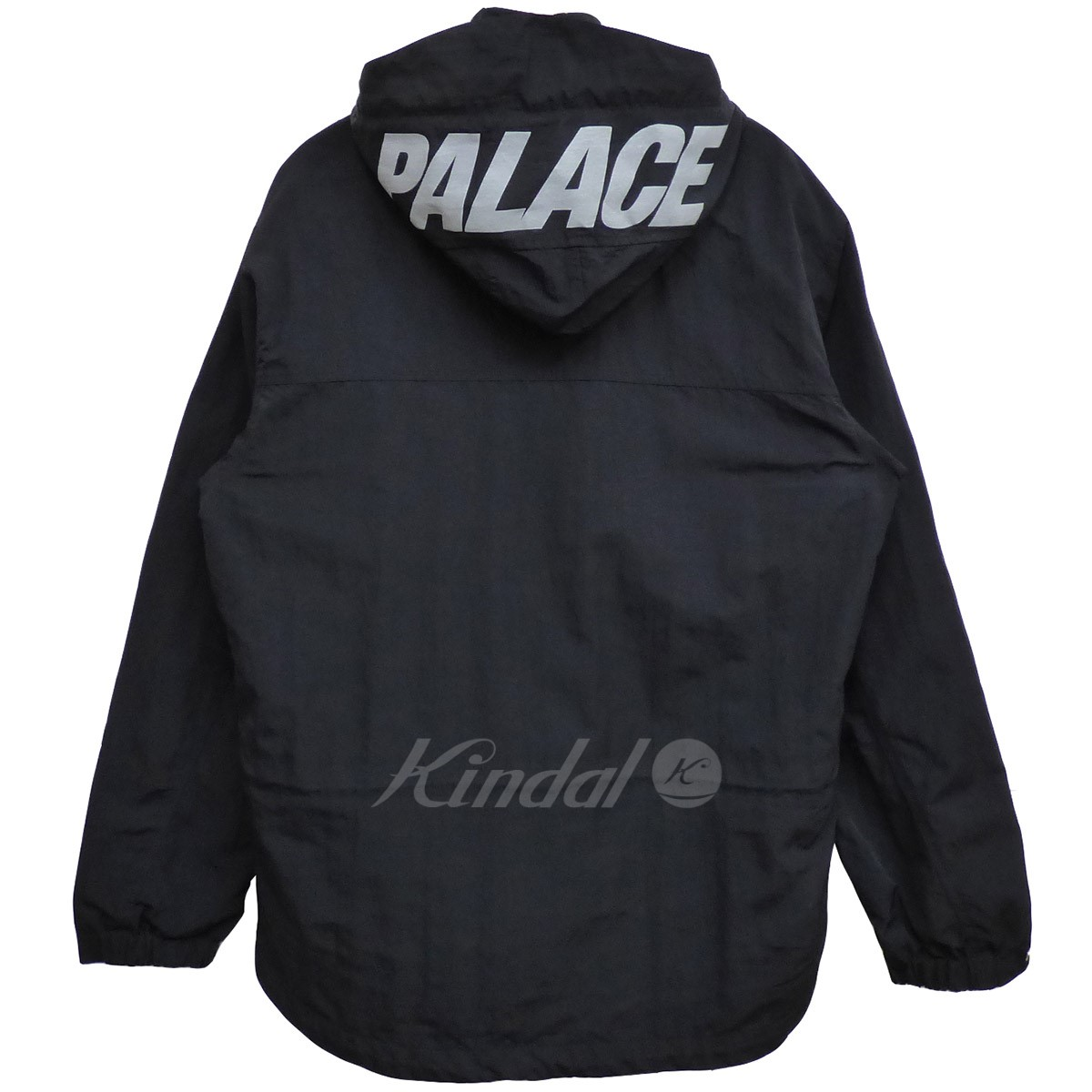 【中古】PALACE 18AW BELLO JACKETナイロンアノラックロングジャケット ブラック サイズ:M 【送料無料】 【110319】(パレス)