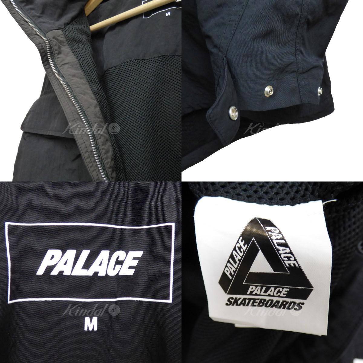 79ddf2cd4b63 kindal  PALACE 18AW BELLO JACKET nylon anorak long jacket black size ...