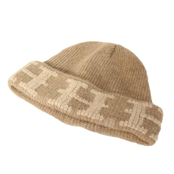 【中古】HERMES カシミヤHロゴ ニットキャップ ニット帽 ベージュ サイズ:- 【送料無料】 【110319】(エルメス)
