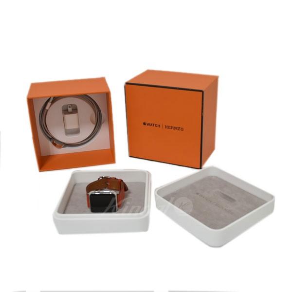 【中古】HERMES 腕時計 アップルウォッチ Apple Watch シンプルトゥール T刻印 オレンジ サイズ:38MM 【送料無料】 【120319】(エルメス)