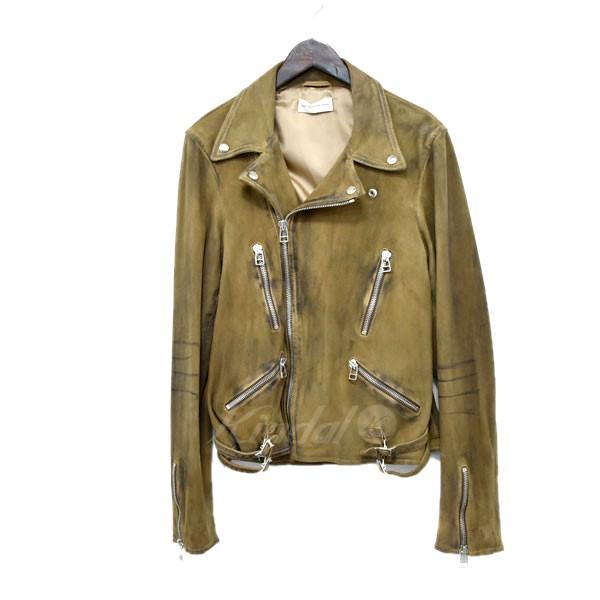 【中古】Faith Connexion 70's Biker Leather Jacket 加工ダブルライダースジャケット カーキ サイズ:S 【送料無料】 【120319】(フェイス コネクション)
