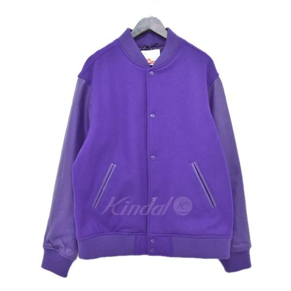 【中古】SUPREME 18AW Motion Logo Varsity Jacket バーシティージャケット パープル サイズ:L 【送料無料】 【120319】(シュプリーム)