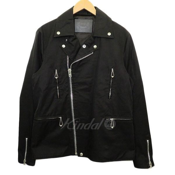 【中古】COOTIE【3rd St COTTON RIDERS】16SS コットンライダースジャケット ブラック サイズ:L