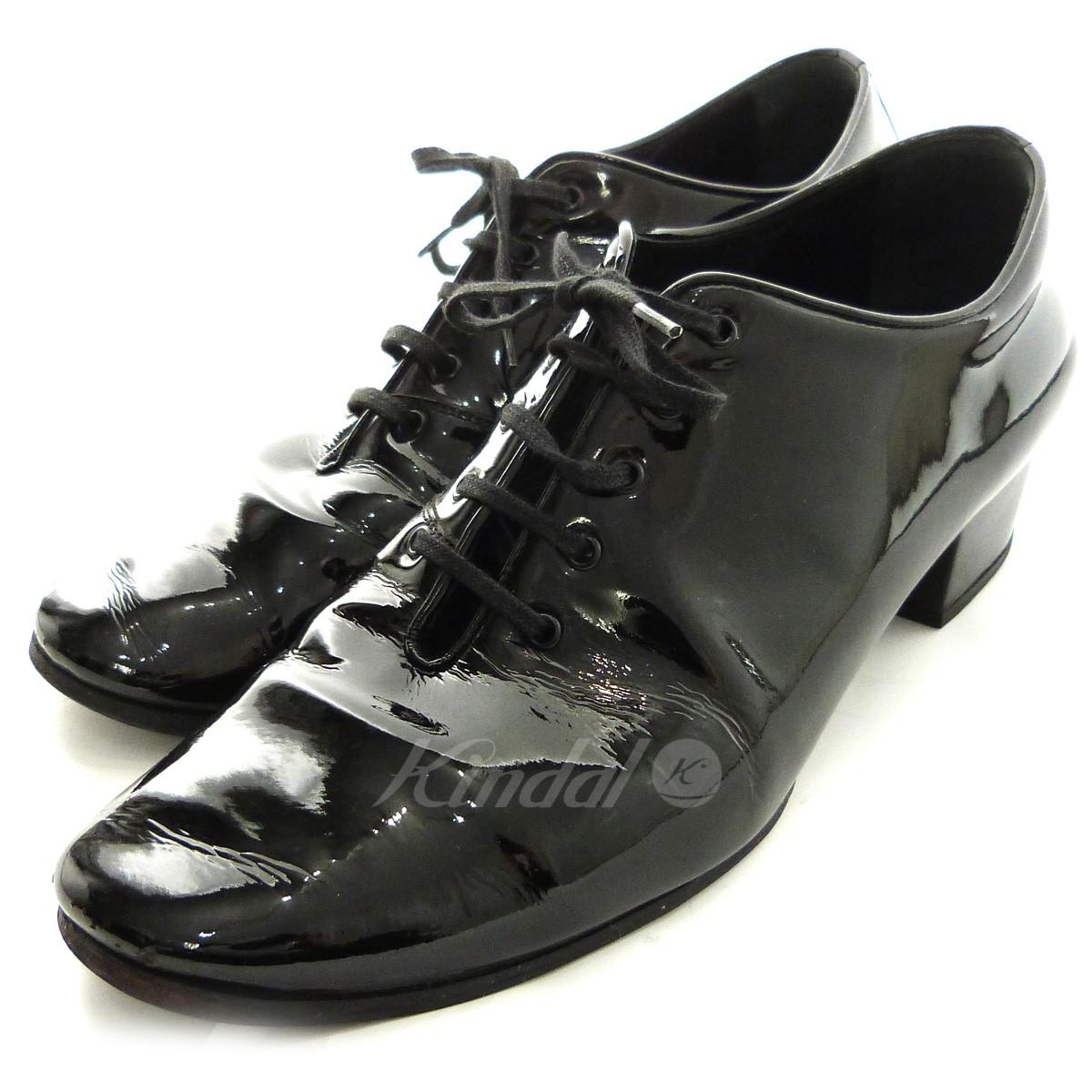 【中古】Dior Homme 07SS タンゴヒールシューズ ブラック サイズ:43 【送料無料】 【120319】(ディオールオム)