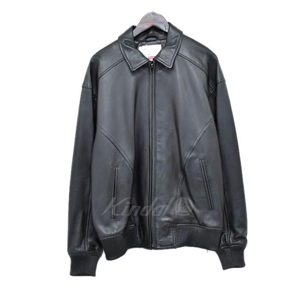 【中古】SUPREME 18SS Studded Arc Logo Leather Jacket レザージャケット ブラック サイズ:M 【送料無料】 【120319】(シュプリーム)