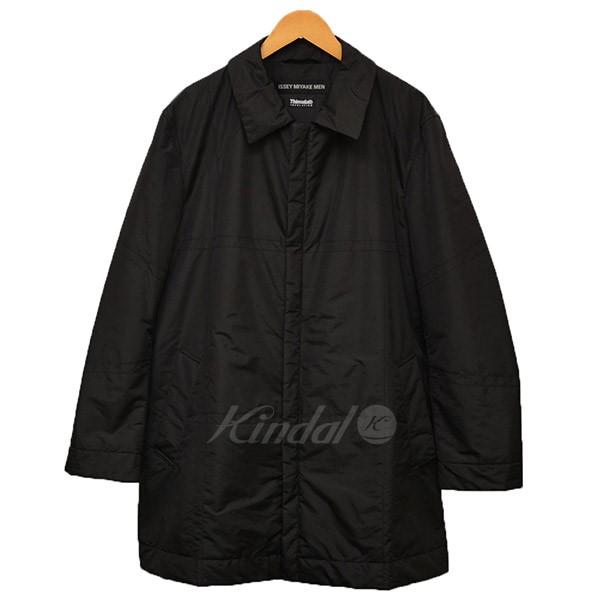 【中古】ISSEY MIYAKE MEN Thinsulate 中綿 コート ブラック サイズ:2 【送料無料】 【120319】(イッセイミヤケ)
