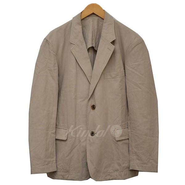 【中古】ISSEY MIYAKE MEN コットン×リネン 2B テーラードジャケット ジャケット ベージュ サイズ:2 【送料無料】 【120319】(イッセイミヤケ)