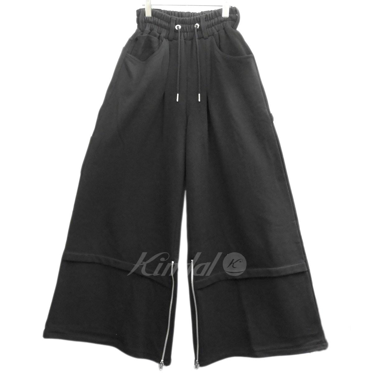 【中古】99%is スウェットワイドパンツ ブラック サイズ:2 【送料無料】 【130319】(ナインティーナインパーセントイズ)
