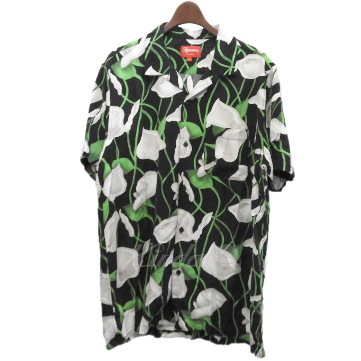 【中古】SUPREME 18SS「Lilly Rayon Shirt」リリーレーヨンシャツ ブラック サイズ:L 【送料無料】 【130319】(シュプリーム)