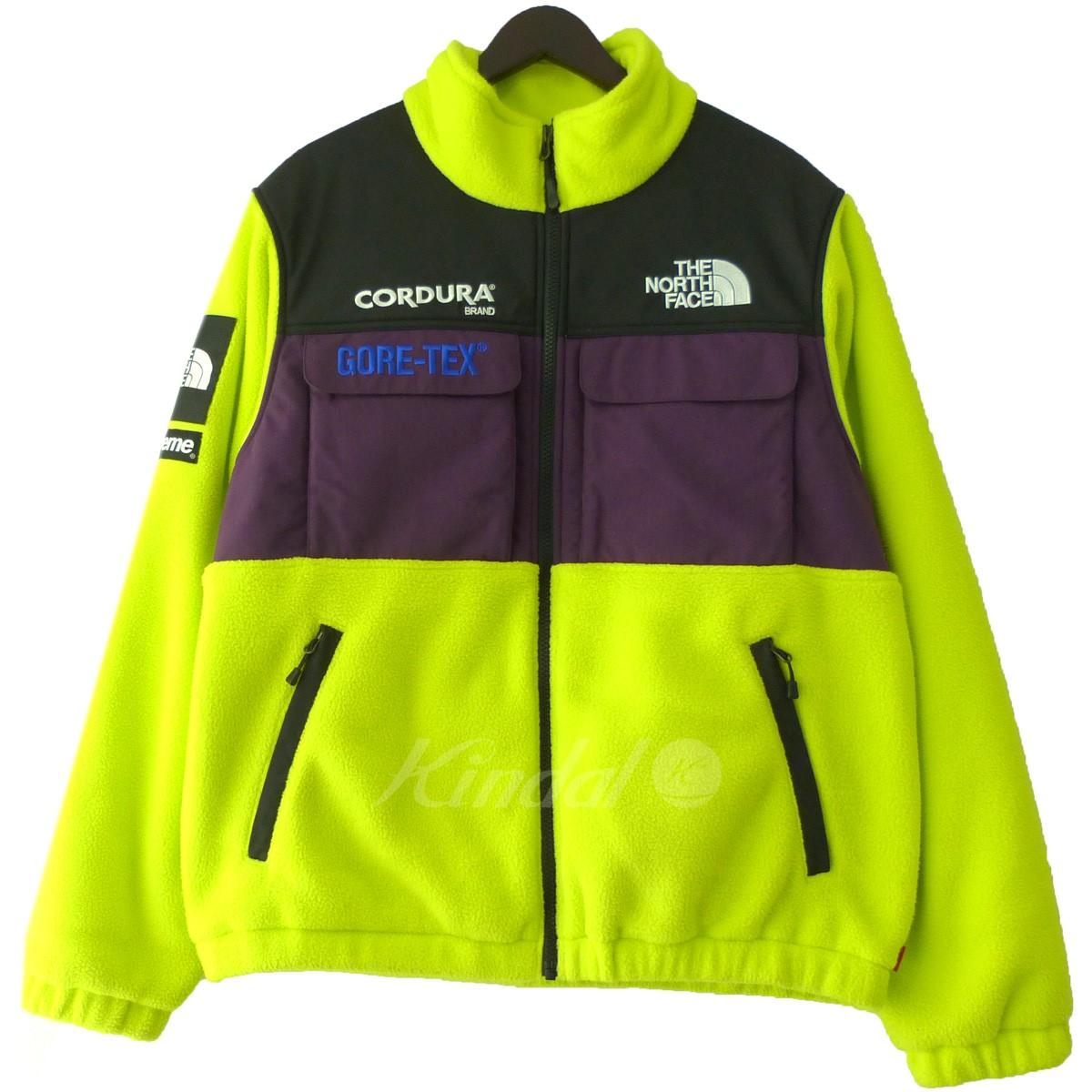 【中古】Supreme×THE NORTH FACE 18AW 「Expedition Fleece Jacket」エクスペディションフリースジャケット サルファースプリング サイズ:M 【送料無料】 【130319】(シュプリーム ザノースフェイス)