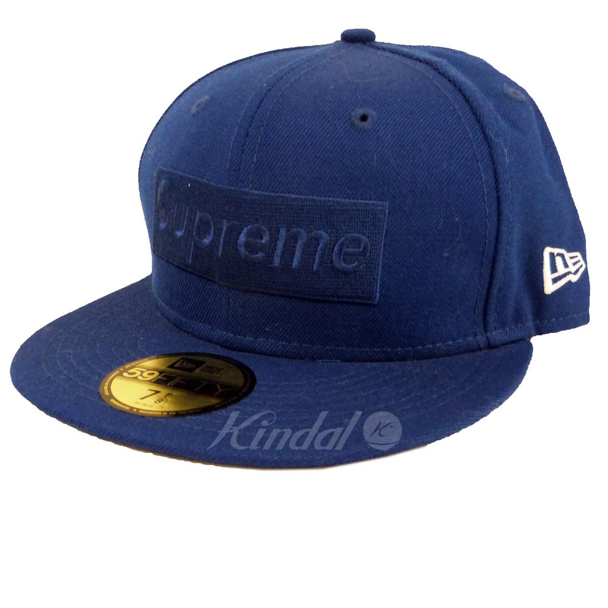 【中古】Supreme x New Era 14AW「Tonal Box Logo New Era Cap」BOXロゴベースボールキャップ ロイヤルブルー サイズ:7 1/8(56.8cm) 【130319】(シュプリーム ニューエラ), 浅科村 86fc0dcd