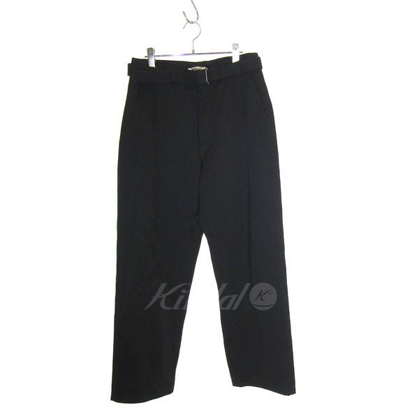 【中古】AURALEE 2019SS LOOSE twill wide pants ワイドパンツ ブラック サイズ:3 【送料無料】 【130319】(オーラリー)