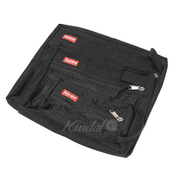 【中古】SUPREME 2016AW Mesh Organizer Bags Set Of 3 3セットオーガナイザーバッグ ブラック サイズ:- 【140319】(シュプリーム)