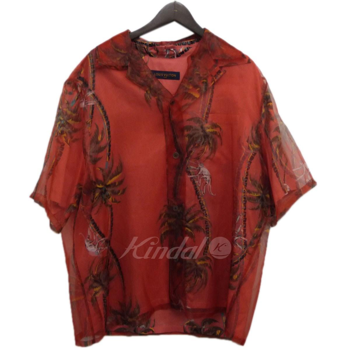 【中古】LOUIS VUITTON 18SS ハワインアンリリーダブルレイヤーシャツ レッド サイズ:XL 【送料無料】 【130319】(ルイヴィトン)