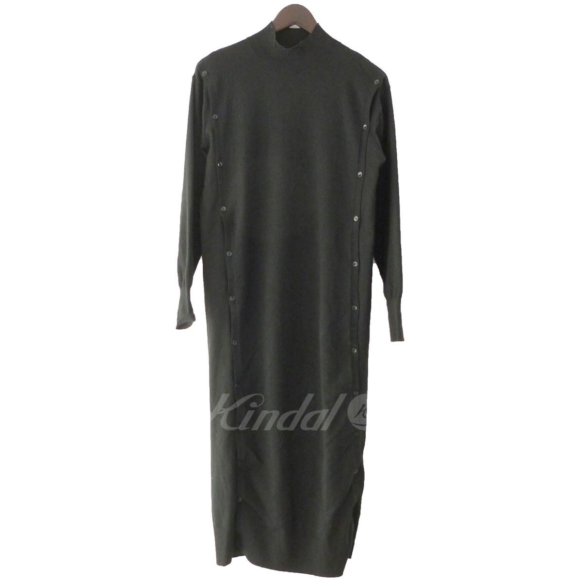 【中古】LE CIEL BLEU 19SS「Button knit Dress」ボタンニットドレス ブラック サイズ:36 【送料無料】 【130319】(ルシェルブルー)