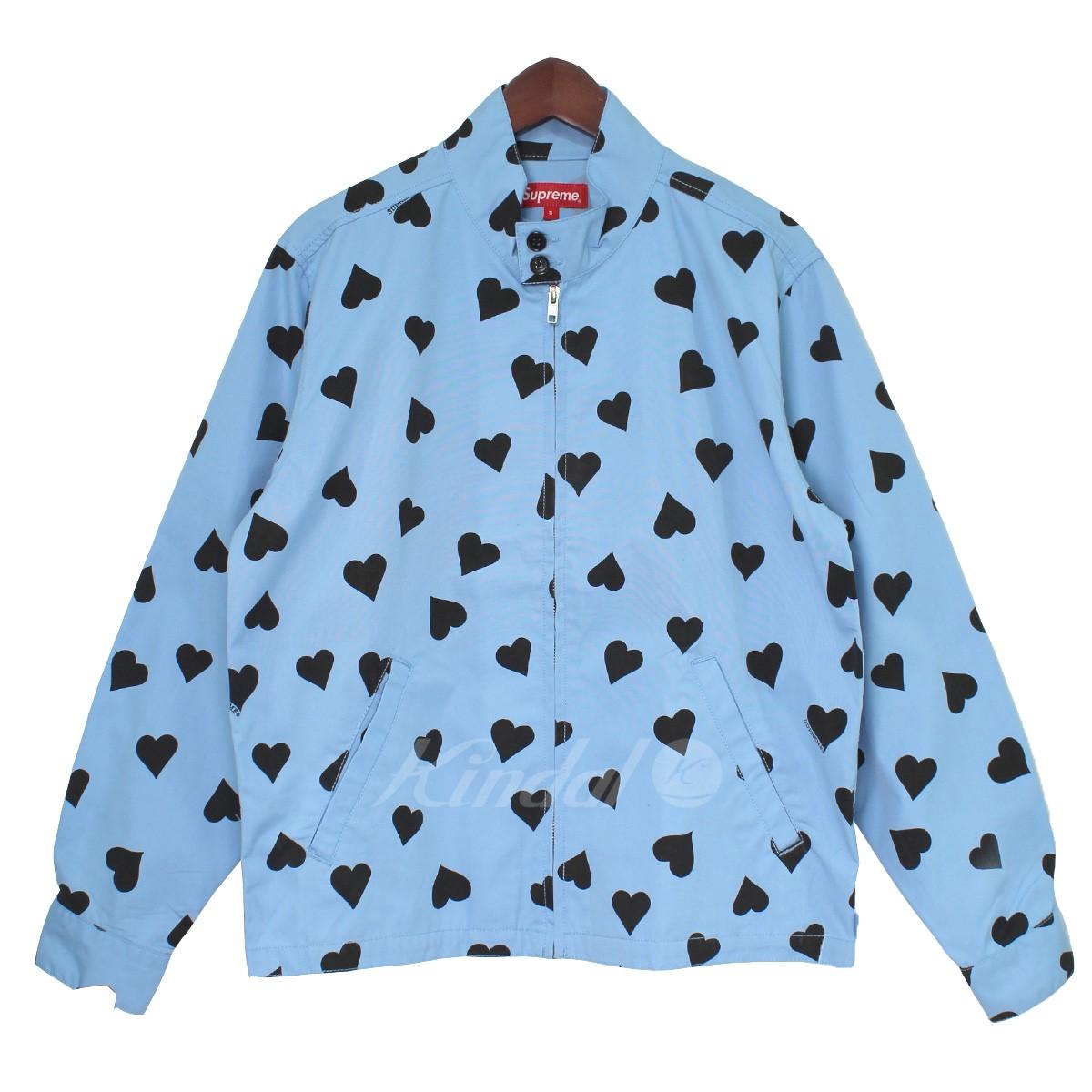【中古】SUPREME 17SS Hearts Harrington Jacket ハート総柄スイングトップジャケット ブルー サイズ:S 【送料無料】 【130319】(シュプリーム)