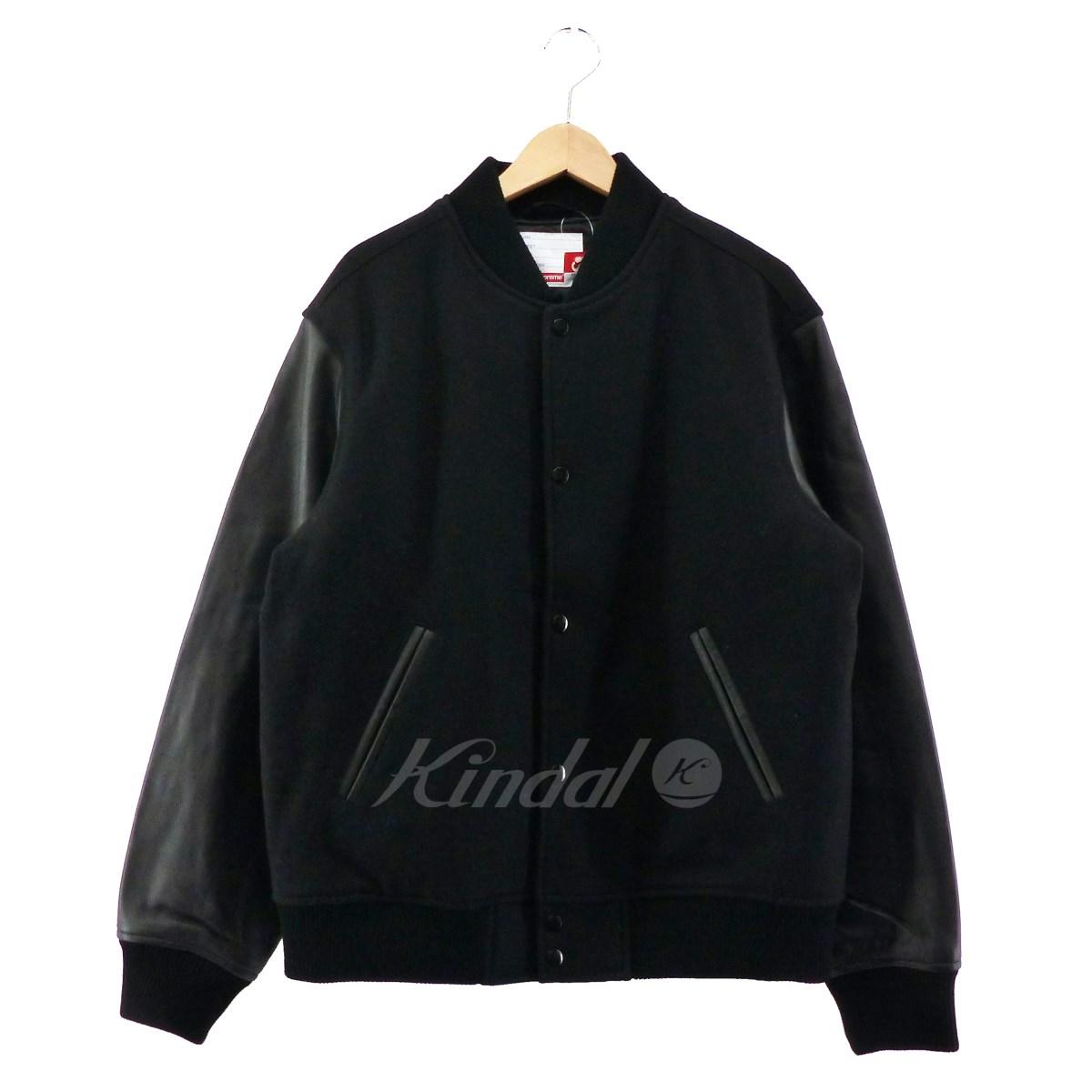 【中古】SUPREME 2018AW Motion Logo Varstity Jacket ブラック サイズ:M 【送料無料】 【140319】(シュプリーム)