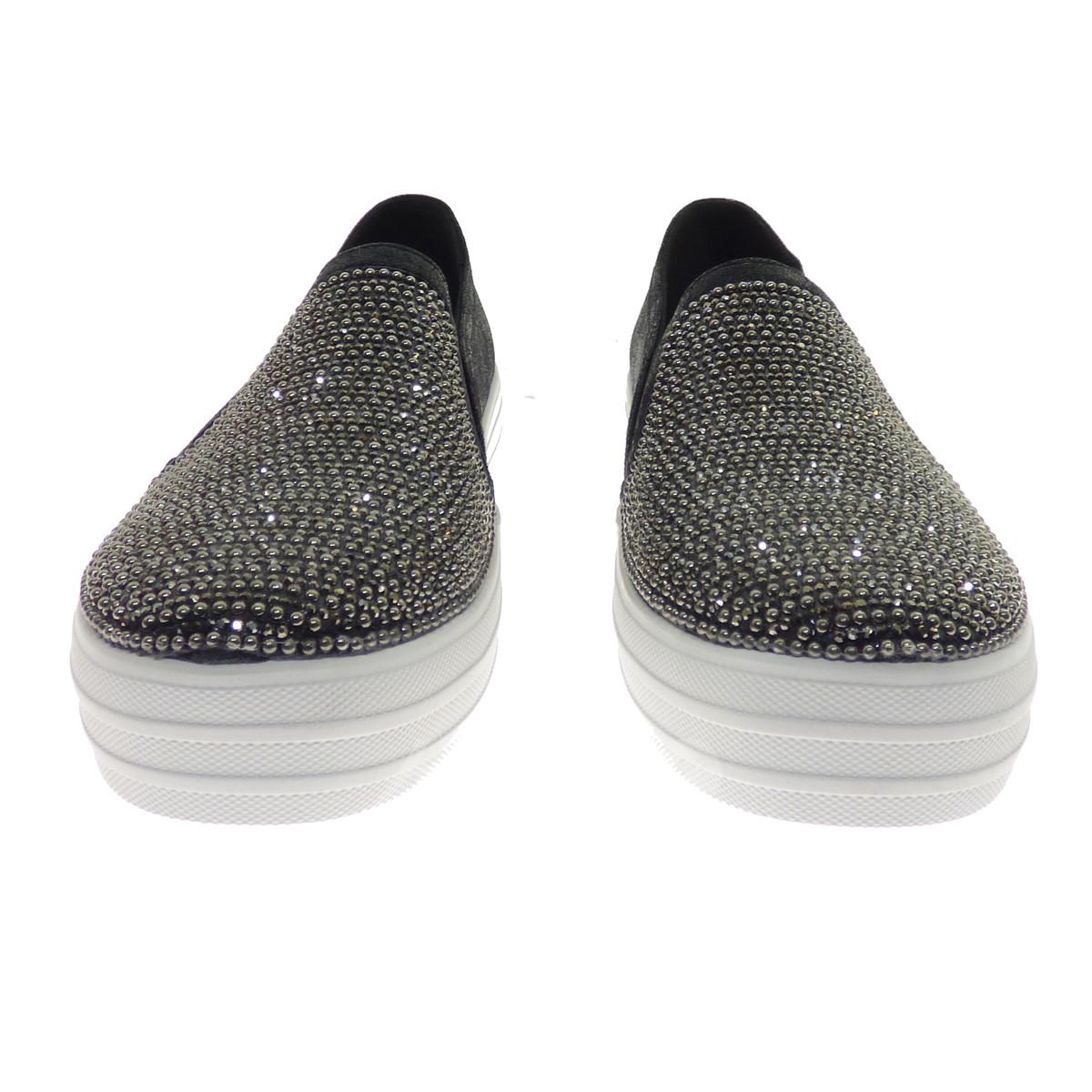 SKECHERS Double Up Shiny Dancer black size: 25 (スケッチャーズ)