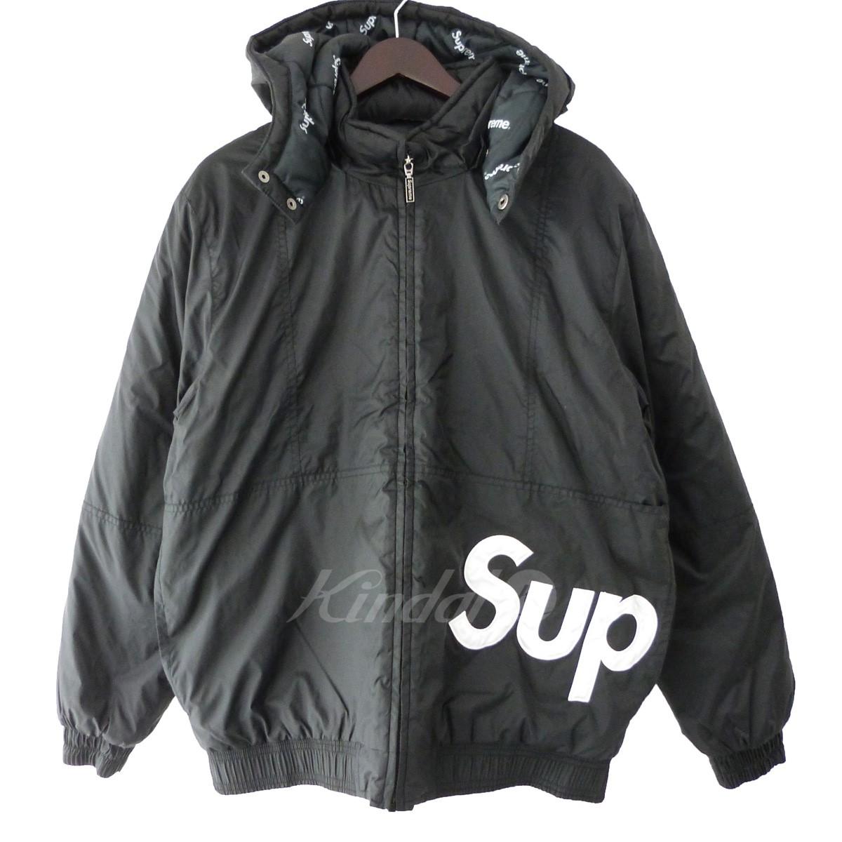 【中古】SUPREME 16AW「Sideline Side Logo Parka」サイドラインサイドロゴパーカー ブラック サイズ:M 【送料無料】 【140319】(シュプリーム)